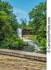 Minnehaha falls in Minneapolis, Minnesota