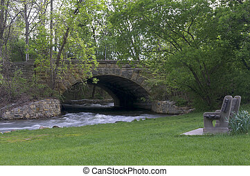 Minnehaha Park Creek and Bridge