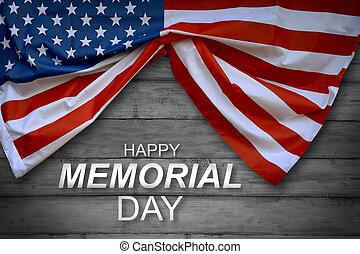 minnesmärke, amerikan flagga, dag