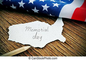 minnesmärke, enigt, text, påstår, flagga, dag