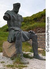 minnesmärke, georgia, warriors., georgiansk