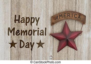 minnesmärke, lycklig, dag, hälsning