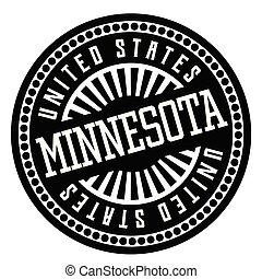 Minnesota black and white badge