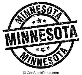 Minnesota black round grunge stamp