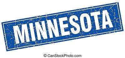 Minnesota blue square grunge vintage isolated stamp