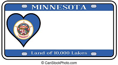 Minnesota License Plate - Minnesota state license plate in...