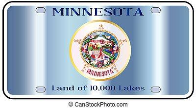 Minnesota License Plate Flag - Minnesota state license plate...