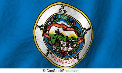 Minnesota looping flag
