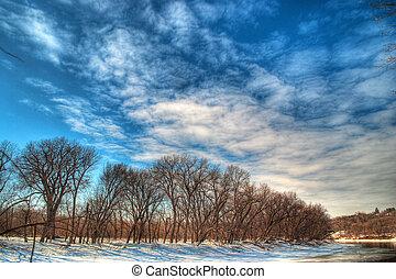 Minnesota River Wintertime - Minnesota River in the ...