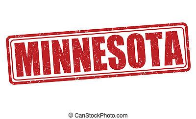 Minnesota grunge rubber stamp on white background, vector illustration