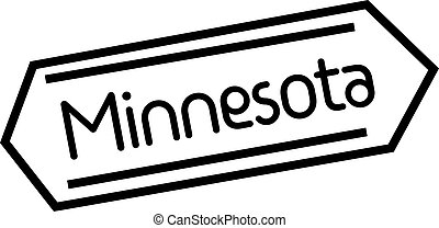 MINNESOTA stamp on white background