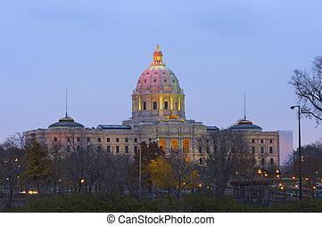 Minnesota State Capitol at Dusk