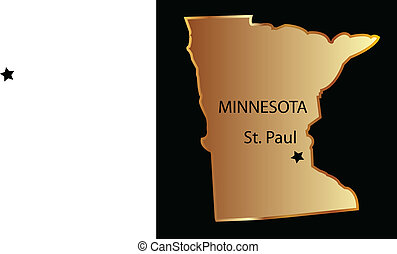 Minnesota state usa map