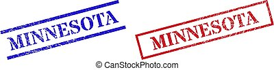 MINNESOTA Textured Rubber Stamp Watermarks with Rectangle Frame