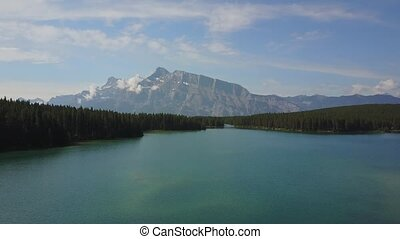 Minnewanka Lake in Banff National Park, Canada