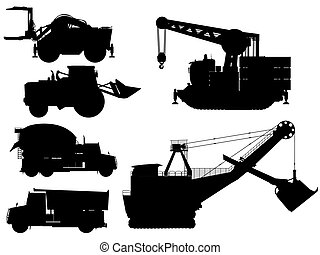 Minning and construction machine set