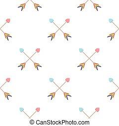 minoría, homosexual, alegre, cartoon., patrón, flecha, ...