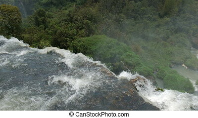 Minor waterfalls in the Iguazu National Park seen from above...