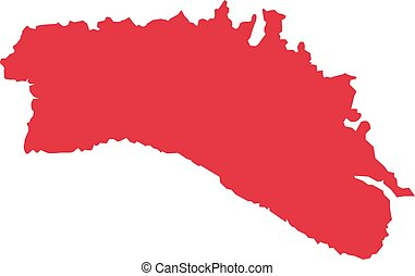 Minorca map silhouette