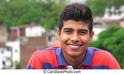 minoria, hispânico, menino adolescente