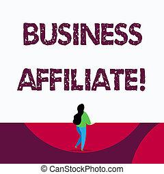 minorité, business, texte, projection, signe, affiliate., actionnaire, another., photo, conceptuel, une, compagnie