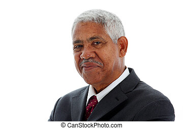 Minority Businessman - Minority businessman set against a...