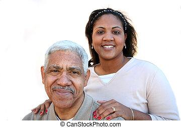 Minority Family - Minority family set against a white...