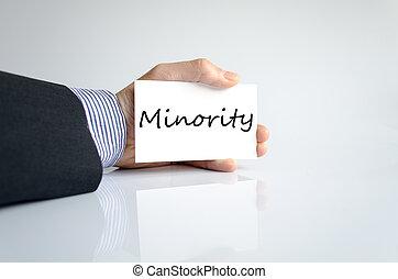 Minority text concept