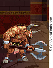 Minotaur in the Labyrinth. No transparency used. Basic (...