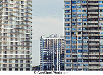 New residential high-rise buildings