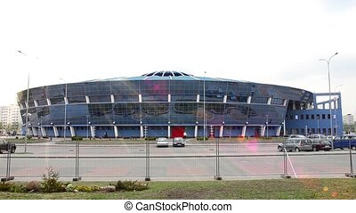MINSK, BELARUS Timelapse view of arena - MINSK, BELARUS...