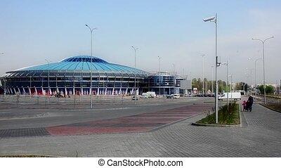 MINSK, BELARUS Timelapse view of arena