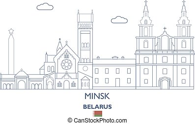 Minsk City Skyline, Belarus