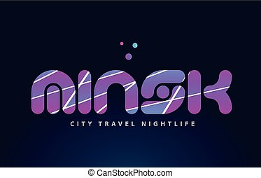 minsk european capital word text typography design