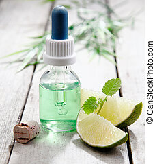 Mint essential oil with lemon