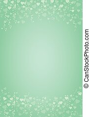 mint-green-hearts-love-background - A4 size vertical mint...