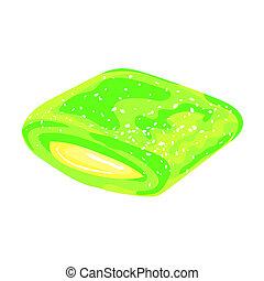 Mint gum icon, cartoon style - Mint gum icon. Cartoon of...