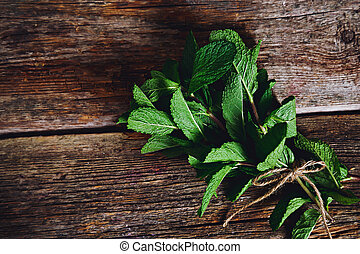Mint on the table
