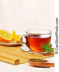 Mint tea with orange