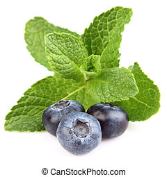 Mint with berry