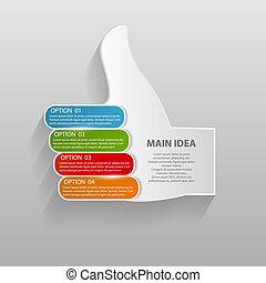mintalécek, vektor, illustration., ügy, infographic