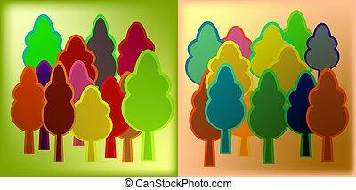 minted, 木頭, 上, 上色, 箔, 為, 裝飾, ......的, 生態, subjects.