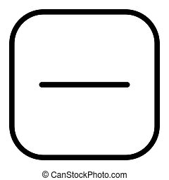 Minus button line icon. Negative sign in square illustration isolated on white. No button outline style design, designed for web and app. Eps 10.