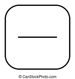 Minus button thin line icon. Negative sign in square illustration isolated on white. No button outline style design, designed for web and app. Eps 10.