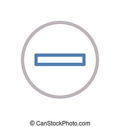 minus  color line icon