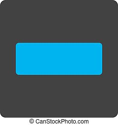 Minus flat blue and gray colors rounded button