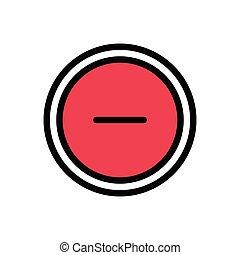 minus flat color icon