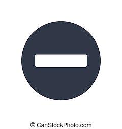 minus  glyph color icon