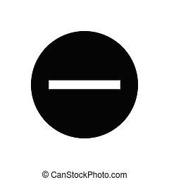 minus  glyph flat icon