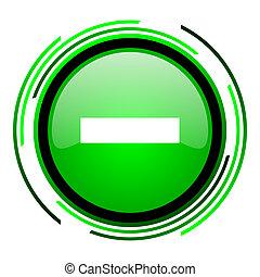 minus green circle glossy icon